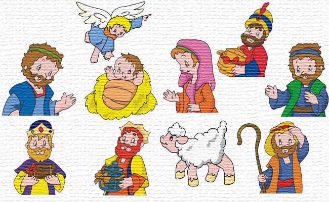 Nativity embroidery designs