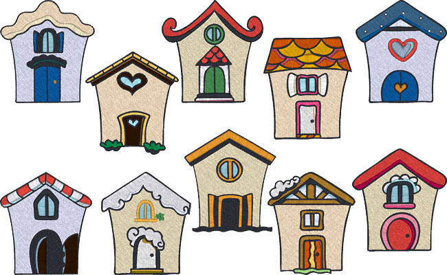Little House embroidery designs