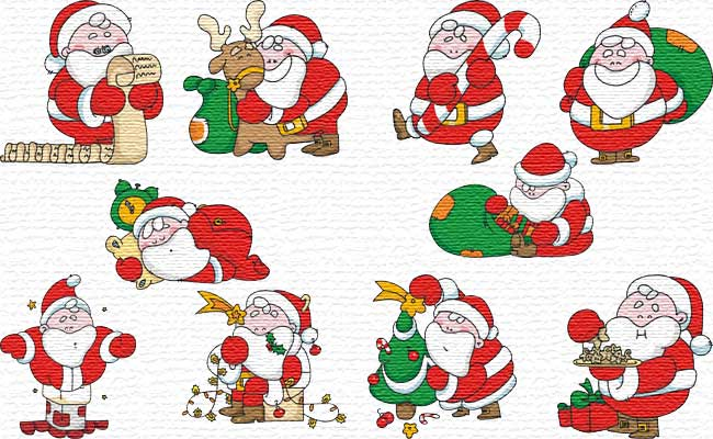 Chubby Santa embroidery designs