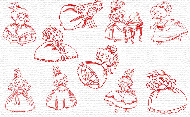 Girls embroidery designs