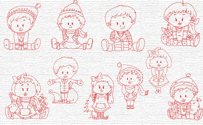 RW Xmas embroidery designs