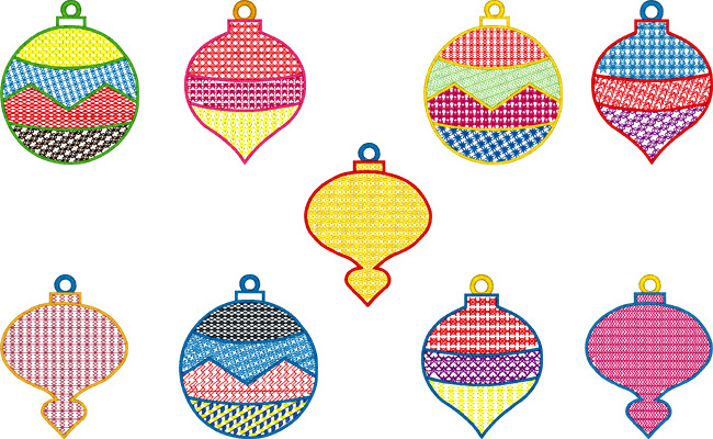 Christmas Decorations embroidery designs